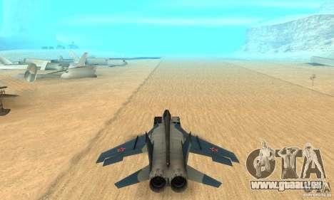 MiG-31 Foxhound für GTA San Andreas Innenansicht