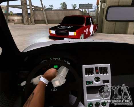 VAZ 2107 Gangsta für GTA San Andreas zurück linke Ansicht