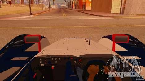 Porsche RS Spyder EVO Dyson Racing für GTA San Andreas Rückansicht
