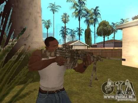 Mitrailleuse MK-48 pour GTA San Andreas troisième écran