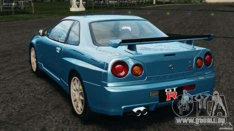 Nissan Skyline GT-R R34 2002 v1.0 pour GTA 4 Vue arrière de la gauche