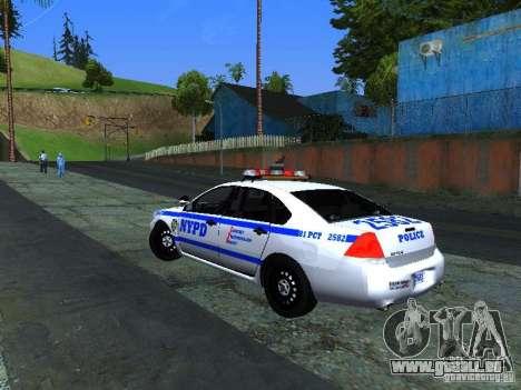 Chevrolet Impala NYPD für GTA San Andreas rechten Ansicht