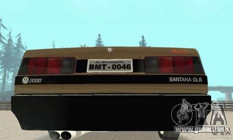 Volkswagen Santana GLS 1989 für GTA San Andreas Seitenansicht