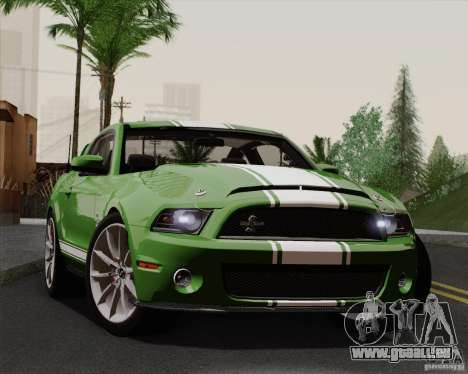 Ford Shelby GT500 Super Snake 2011 pour GTA San Andreas vue arrière