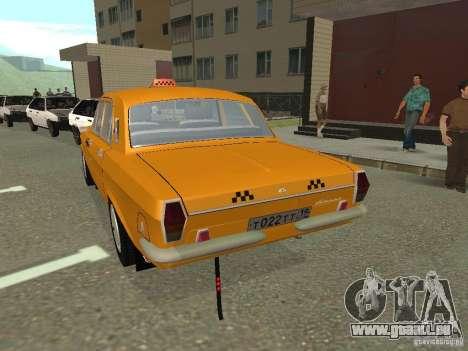 Taxi de Volga GAZ 24-10 pour GTA San Andreas laissé vue
