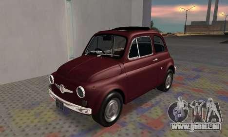 Fiat Abarth 595 SS 1968 pour GTA San Andreas vue intérieure