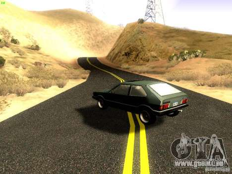 Volkswagen Scirocco Mk1 pour GTA San Andreas sur la vue arrière gauche