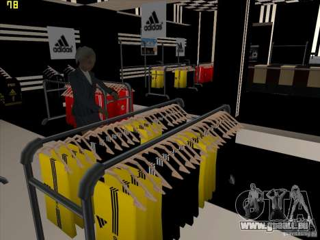 Remplacement complet du magasin Binco Adidas pour GTA San Andreas sixième écran