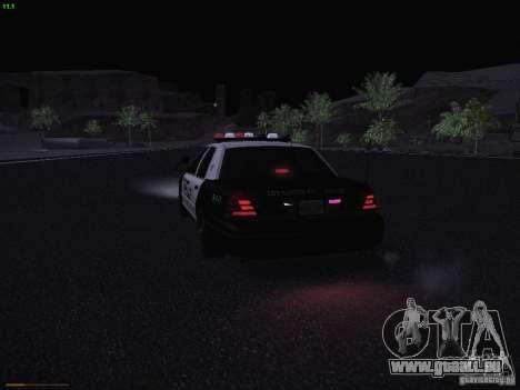 Ford Crown Victoria Police 2003 pour GTA San Andreas vue de dessus