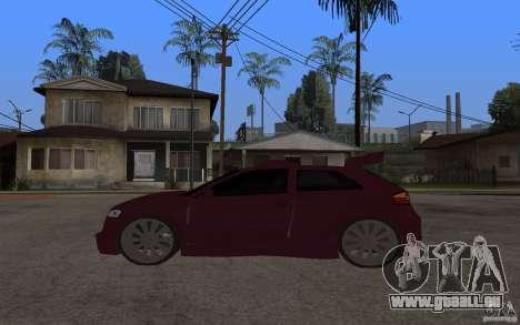 Audi A3 Tuned pour GTA San Andreas laissé vue