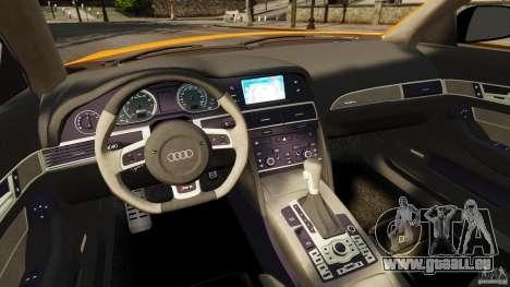 Audi A6 Avant Stanced 2012 v2.0 pour GTA 4 Vue arrière