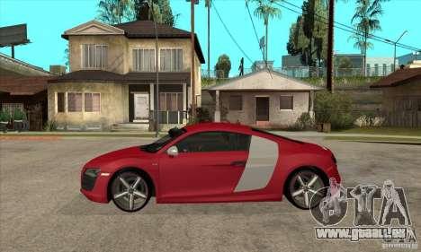 Audi R8 V10 pour GTA San Andreas laissé vue