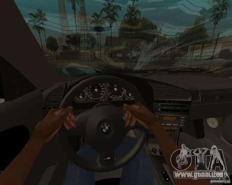 BMW M3 e36 1997 pour GTA San Andreas sur la vue arrière gauche