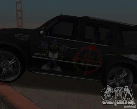 Cadillac Escalade für GTA San Andreas Rückansicht