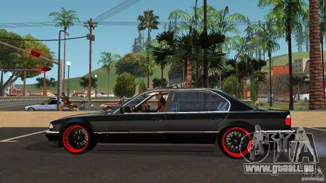 BMW E38 750LI pour GTA San Andreas laissé vue