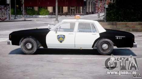 Chevrolet Impala Police 1983 [Final] pour GTA 4 vue de dessus