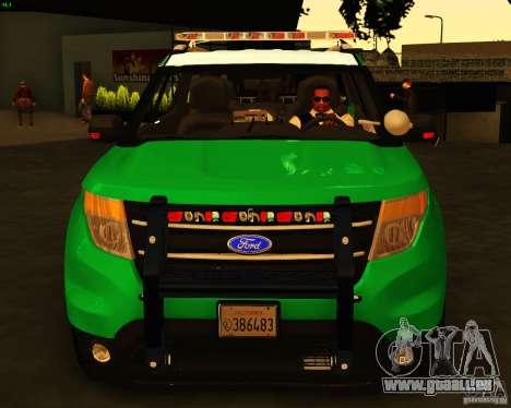 Ford Explorer 2011 VCPD Police für GTA San Andreas rechten Ansicht