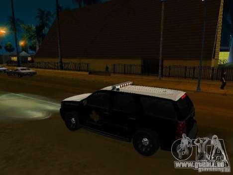 Chevrolet Tahoe Texas Highway Patrol pour GTA San Andreas vue de droite