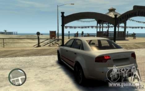 Audi RS4 pour GTA 4 Vue arrière de la gauche
