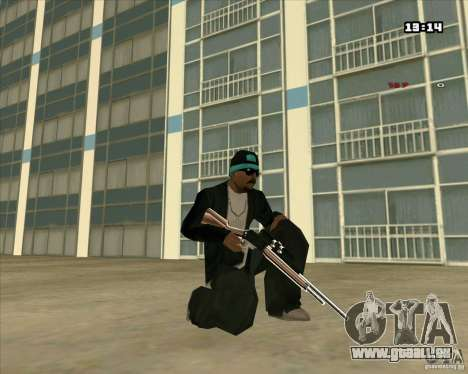 Chrome Weapon Pack pour GTA San Andreas huitième écran