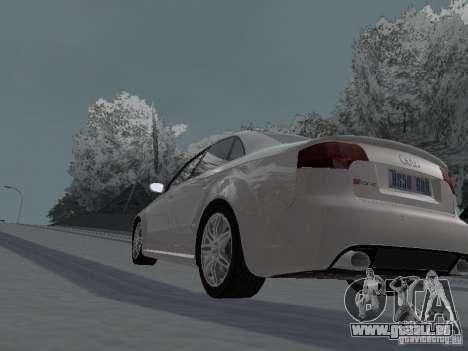 Audi RS4 pour GTA San Andreas sur la vue arrière gauche