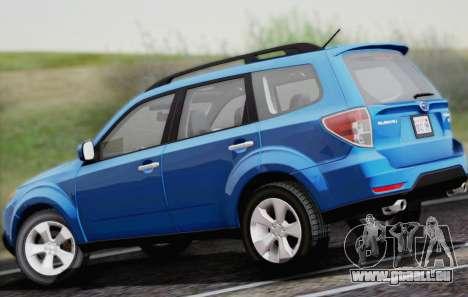 Subaru Forester XT 2008 für GTA San Andreas Rückansicht