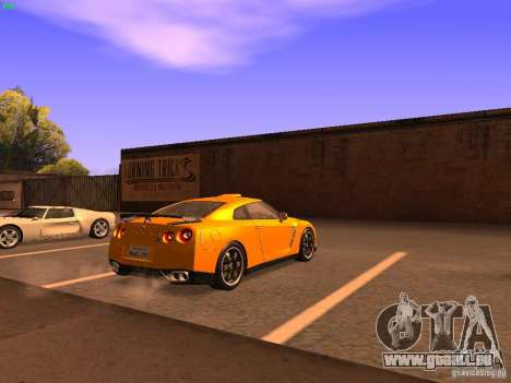 Nissan GT-R SpecV Black Revel pour GTA San Andreas sur la vue arrière gauche