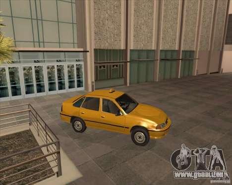 Daewoo Nexia Taxi pour GTA San Andreas sur la vue arrière gauche