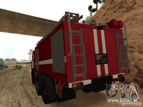 KAMAZ 53229 pompier pour GTA San Andreas laissé vue