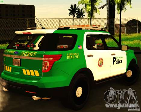 Ford Explorer 2011 VCPD Police für GTA San Andreas linke Ansicht