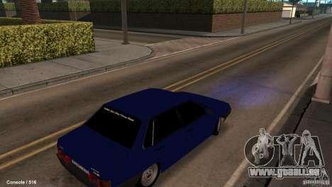 BAZ 21099 pour GTA San Andreas sur la vue arrière gauche