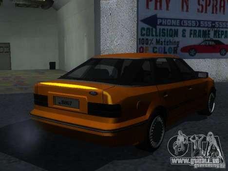 Ford Sierra Mk1 Sedan pour GTA San Andreas sur la vue arrière gauche