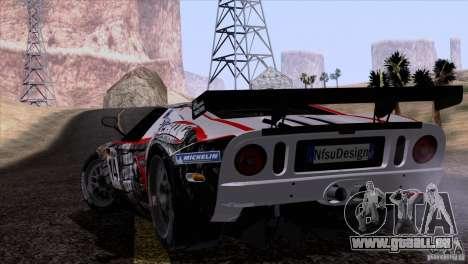Ford GT Matech GT3 Series für GTA San Andreas Seitenansicht