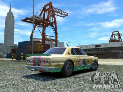 Nissan Skyline 2000 GTR pour GTA 4 Vue arrière