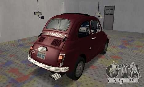 Fiat Abarth 595 SS 1968 pour GTA San Andreas sur la vue arrière gauche