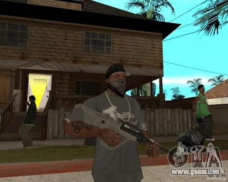 AUG HBAR mit mit einem Auge für GTA San Andreas
