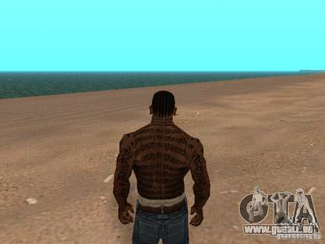 Tattoo Mod by shama123 für GTA San Andreas