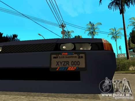 Elegy JDM pour GTA San Andreas vue arrière