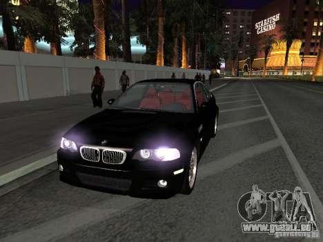 BMW M3 GT-R Stock pour GTA San Andreas vue intérieure