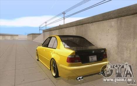 BMW M5 E39 - FnF4 für GTA San Andreas zurück linke Ansicht