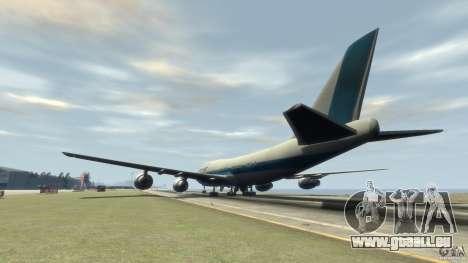 Boening 747-400 Kras Air für GTA 4 hinten links Ansicht