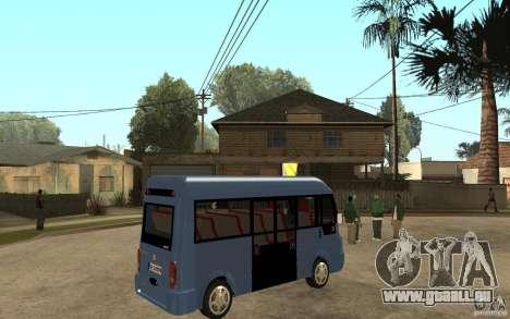 Karsan J10 pour GTA San Andreas vue de droite
