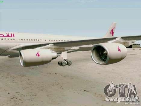 Airbus A-340-600 Quatar für GTA San Andreas Rückansicht