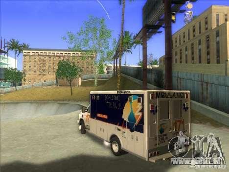 Ford E-350 Ambulance pour GTA San Andreas laissé vue