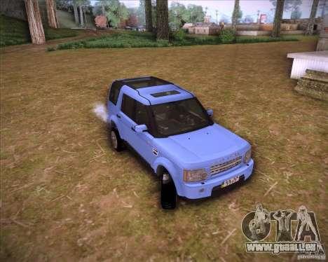 Land Rover Discovery 4 pour GTA San Andreas sur la vue arrière gauche