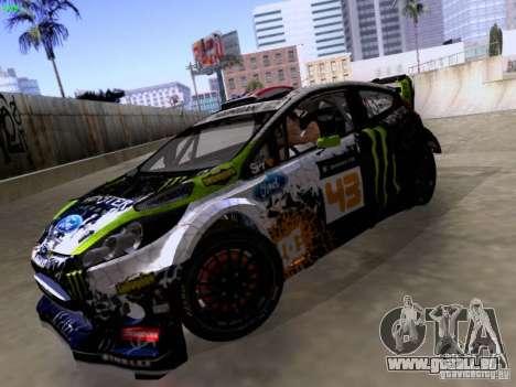 Ken Block Ford Fiesta 2012 für GTA San Andreas Rückansicht