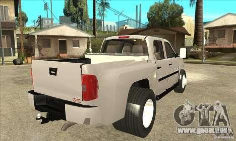GMC 3500 HD Sierra Duramax Diesel 2010 pour GTA San Andreas vue de droite