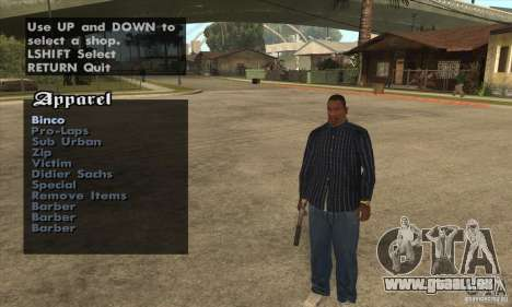 Skin Selector v2.1 pour GTA San Andreas septième écran