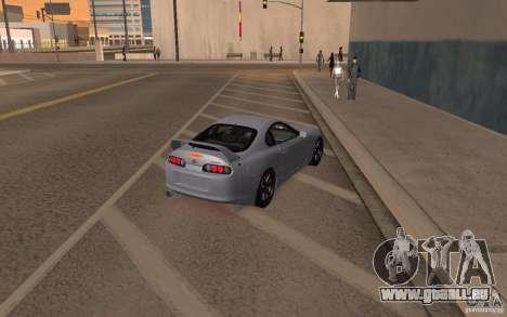 Toyota Supra Mark IV pour GTA San Andreas laissé vue