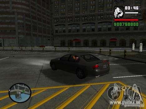 Ford Falcon XR8 pour GTA San Andreas sur la vue arrière gauche